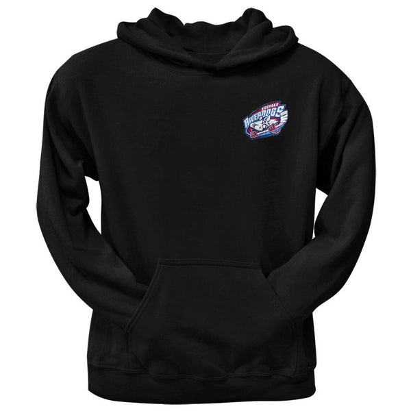Richmond Riverdogs Embroidered Crest Logo Hoodie - Black