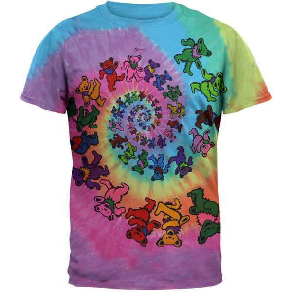 452816e2daf Grateful Dead - Spiral Bears Tie Dye T-Shirt