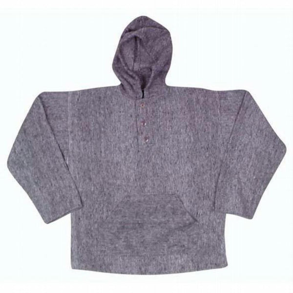 Earth Ragz - Hooded Button Neck Grey Pullover Jacket
