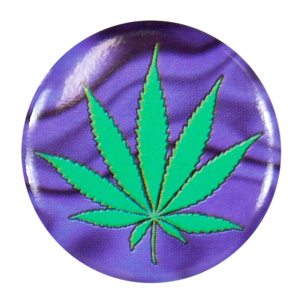 Pot Leaf - Purple Haze Button