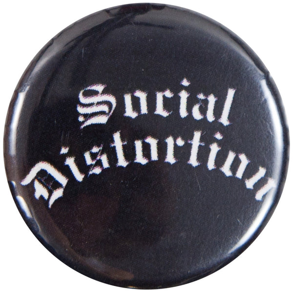 Social Distortion - Gothic Logo Button