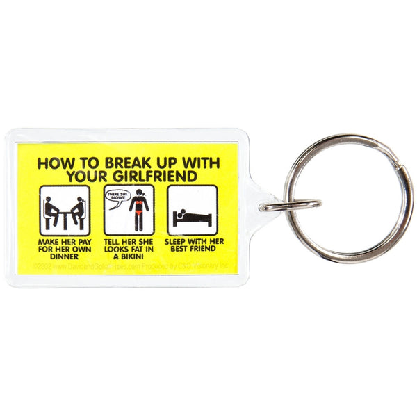 David & Goliath - Break Up Girlfriend Keychain
