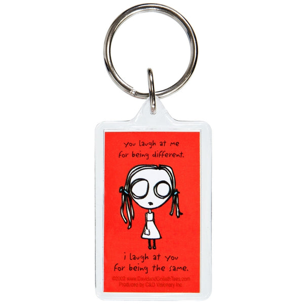 David & Goliath - Eve L Laugh Keychain