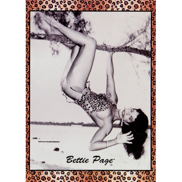 Bettie Page - Hanging Postcard