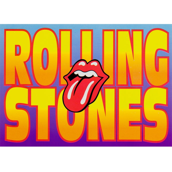 Rolling Stones - Name & Tongue Postcard
