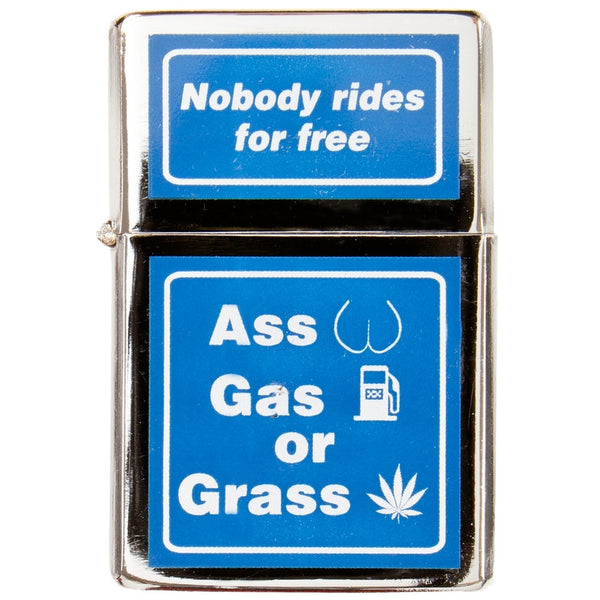 Ass, Gas, Grass Refillable Lighter