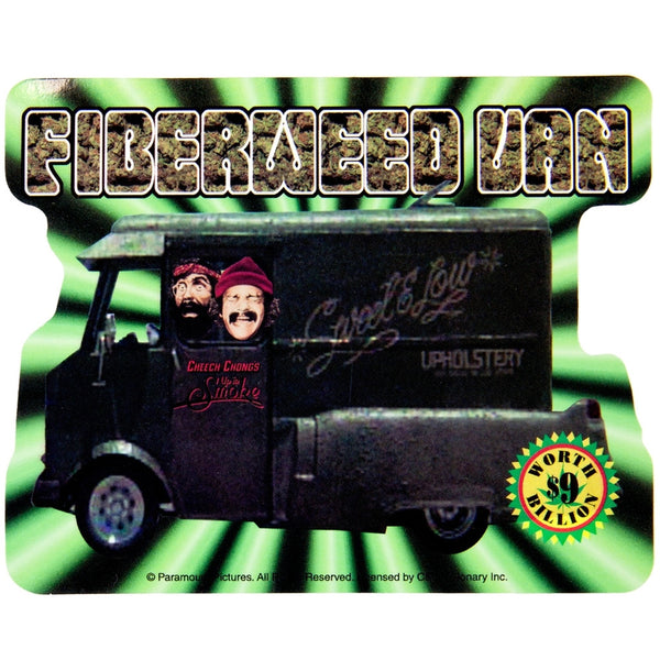 Cheech & Chong - Fiber Weed Van Decal