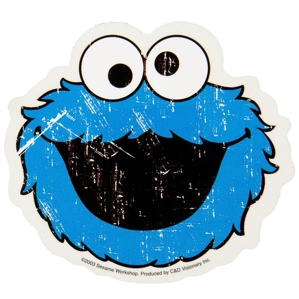 Sesame Street - Cookie Monster Head Decal