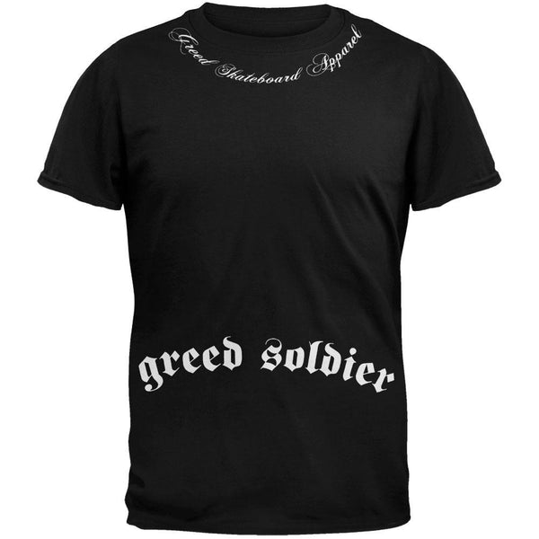 Greed Skateboard Apparel - Soldier T-Shirt Black