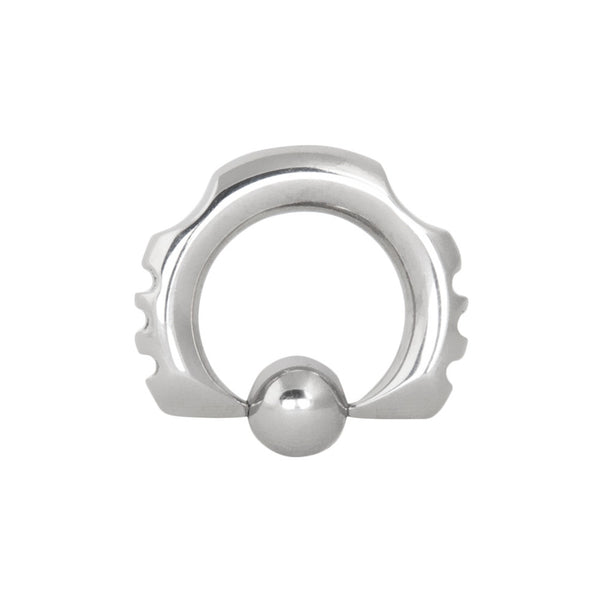 6G 1/2 316L Steel Side Notched Captive Ring
