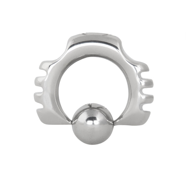 4G 1/2 316L Steel Side Notched Captive Ring