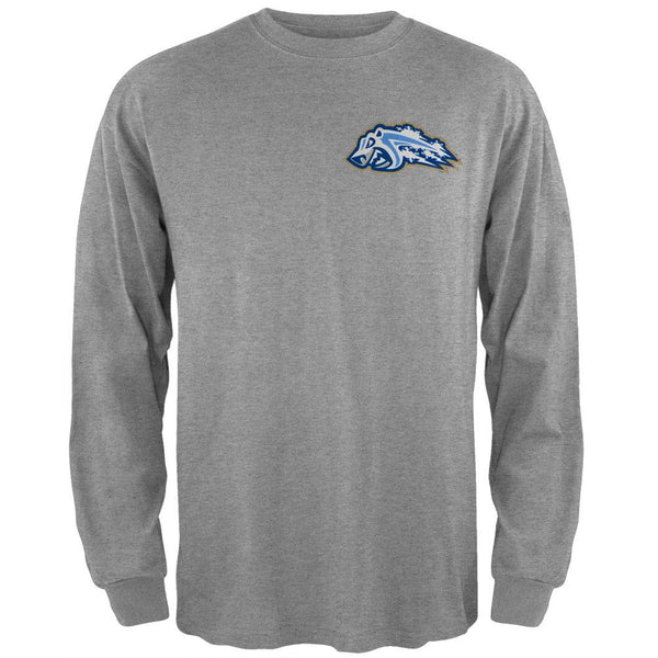 Adirondack Frostbite - Dual Logo Grey Youth Long Sleeve T-Shirt