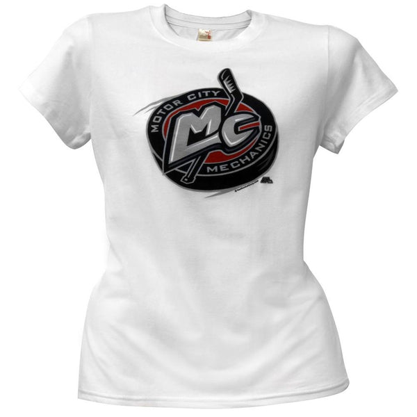 Motor City Mechanics - Logo White Juniors Babydoll T-Shirt