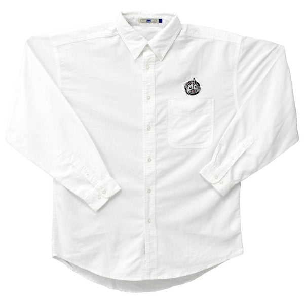 MotorCity Mechanics - Crest Logo Oxford Long Sleeve Shirt