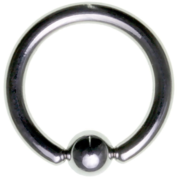 10G 1/2 316L Steel Bead Captive Ring