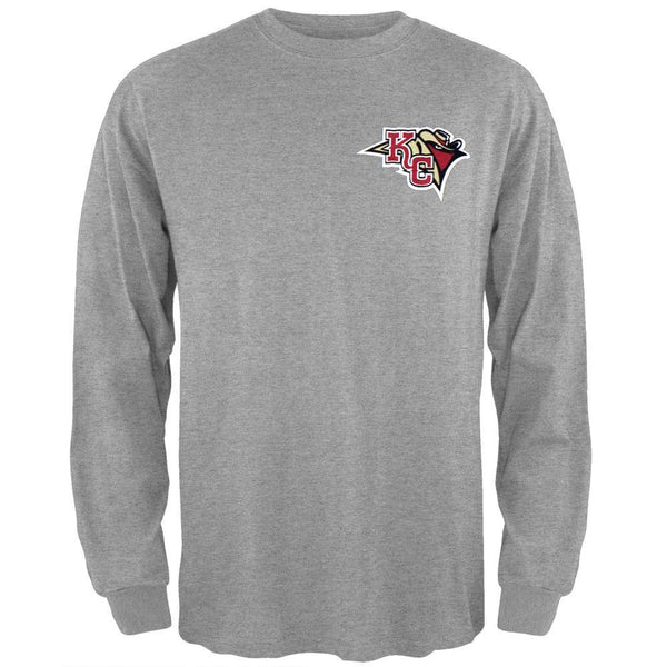 Kansas City Outlaws - Dual Logo Grey Long Sleeve T-Shirt