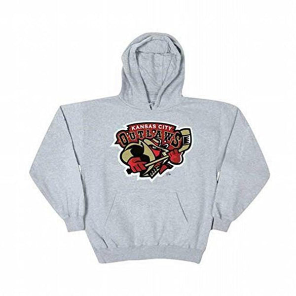 Kansas City Outlaws - Logo Grey Adult Hoodie