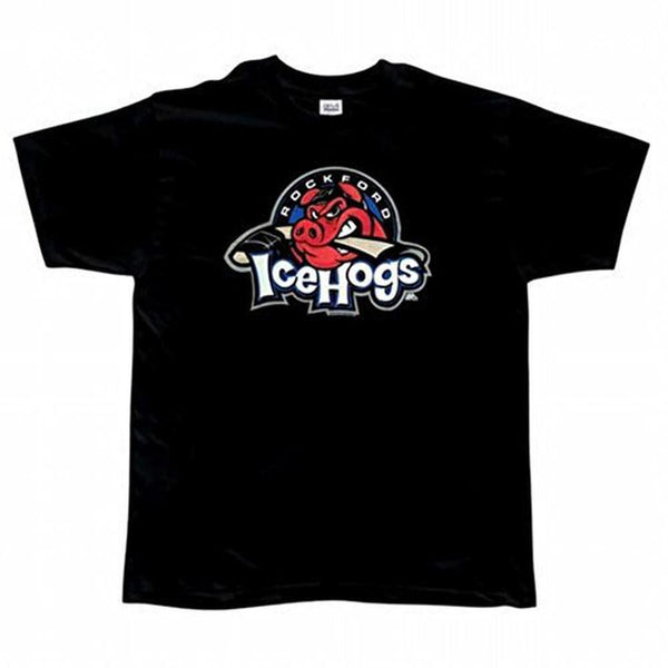 Rockford IceHogs - Logo Black Adult T-Shirt
