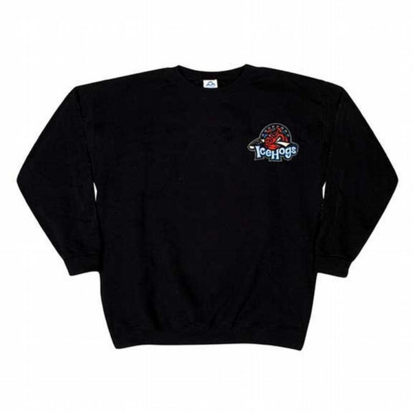 Rockford IceHogs Embroidered Logo Black Youth SweaT Shirt