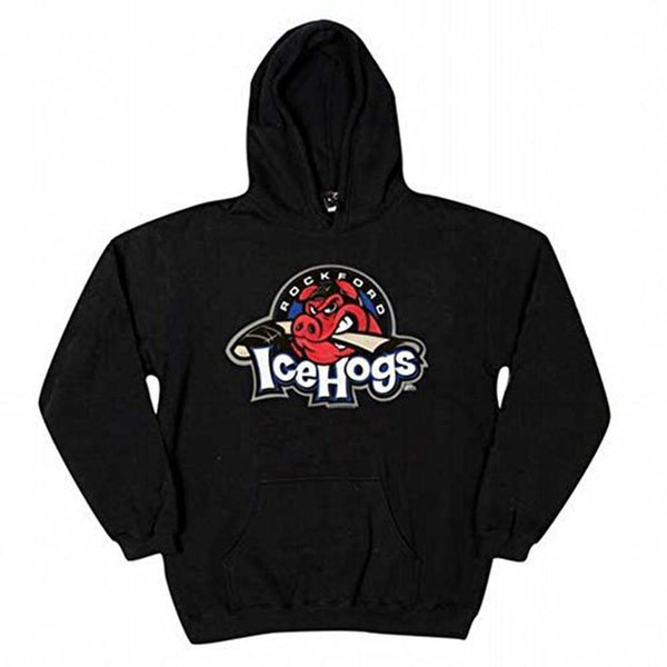 Rockford IceHogs - Logo Black Youth Hoodie