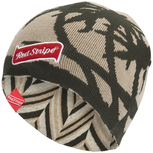 Red Stripe - Reversible Tropical/Stripped Knit Hat