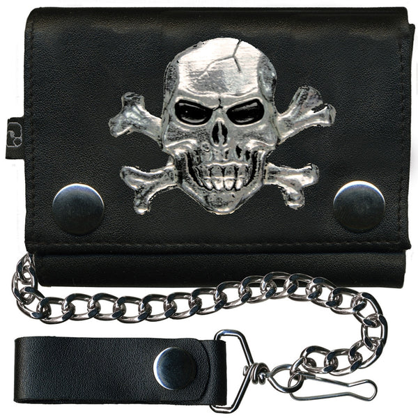 Jolly Roger Leather Wallet