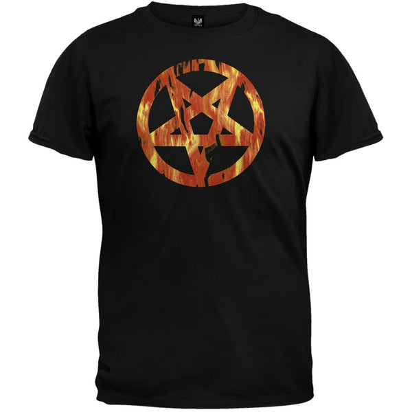 Hellbound - Flaming Pentagram T-Shirt