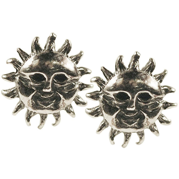 Stud Earrings - Smiling Sun