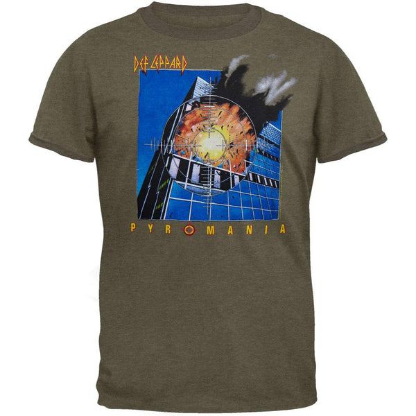 Def Leppard - Pyromania Green Adult T-Shirt
