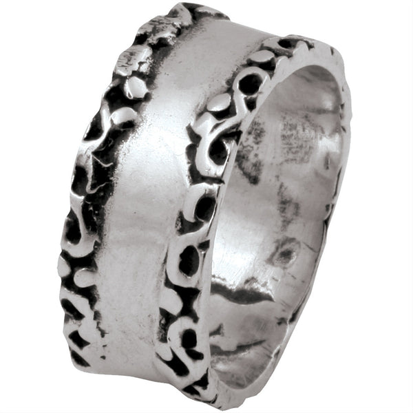 Scroll Band .925 Sterling Silver Ring