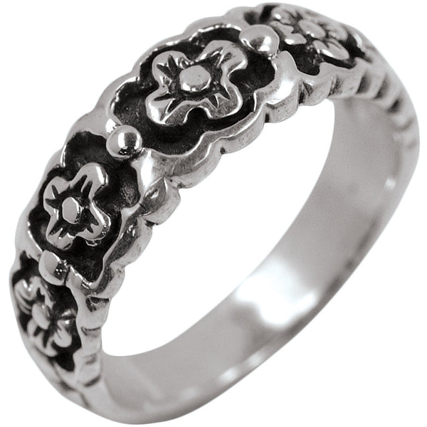 Flowers .925 Sterling Silver Ring