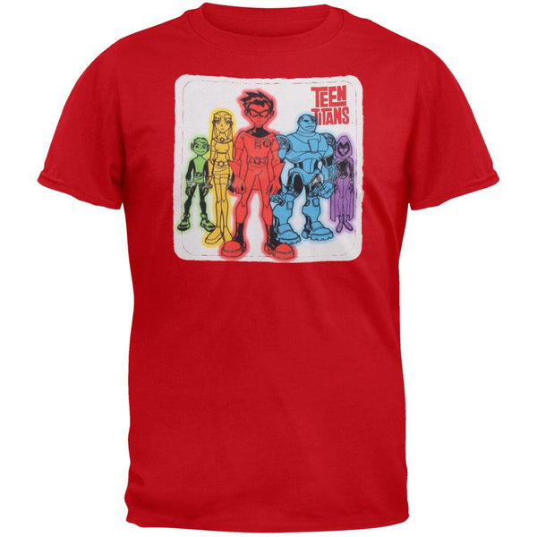 Teen Titans - Heroes Patch Youth T-Shirt