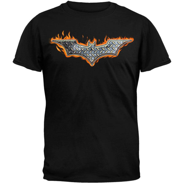 Batman - Steel Fire Logo T-Shirt