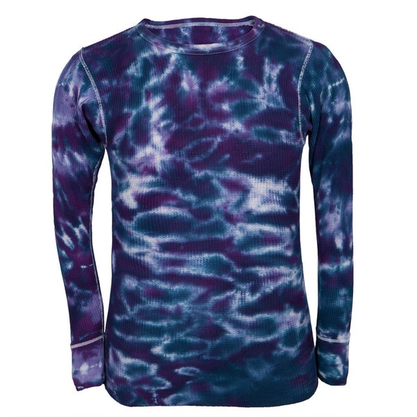 Purple Tie-Dye Adult Men's Thermal Undershirt