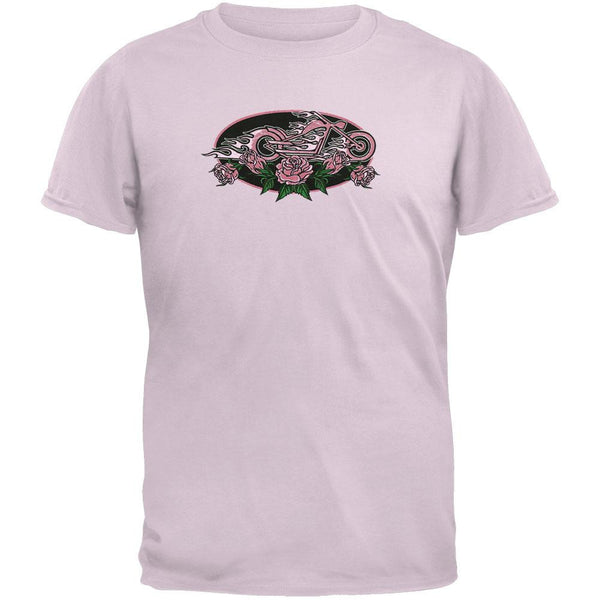 Rose Flame Bike Oval Youth T-Shirt