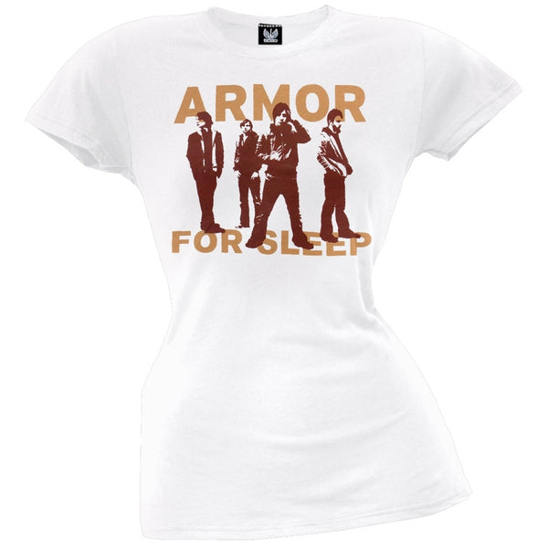 Armor For Sleep - White Faces Juniors T-Shirt