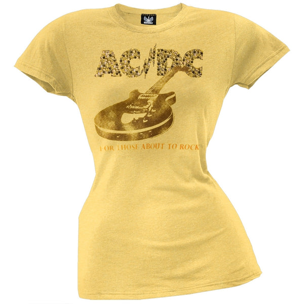 AC/DC - About To Rock Guitar Juniors T-Shirt