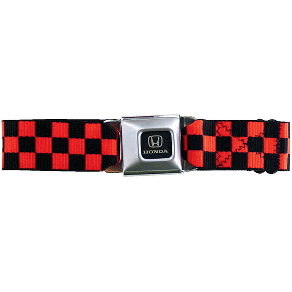Honda Seatbelt - Checkered Red Web Belt
