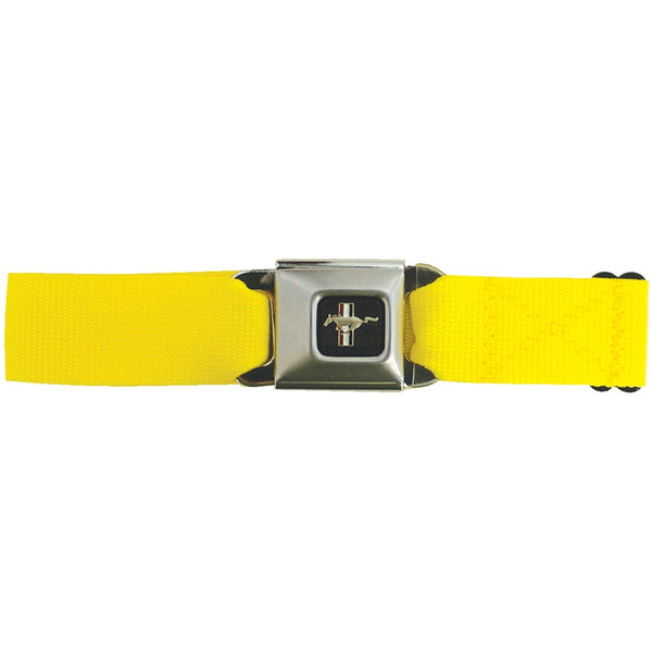 Mustang Seatbelt - Yellow Web Belt