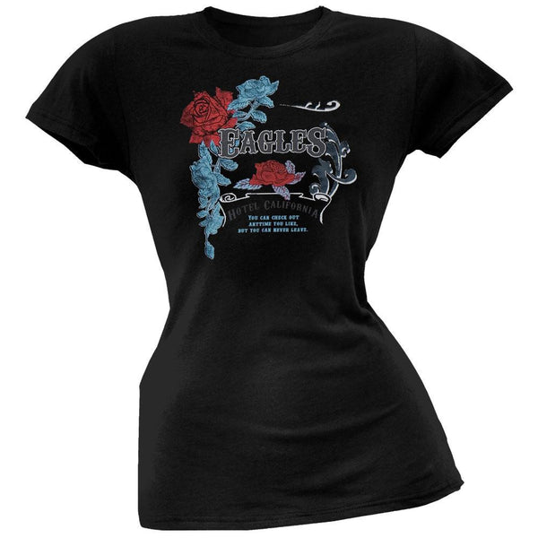 Eagles - Foil Rose Crest Juniors T-Shirt