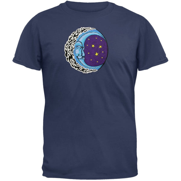 Sleeping Moon Embroidered T-Shirt