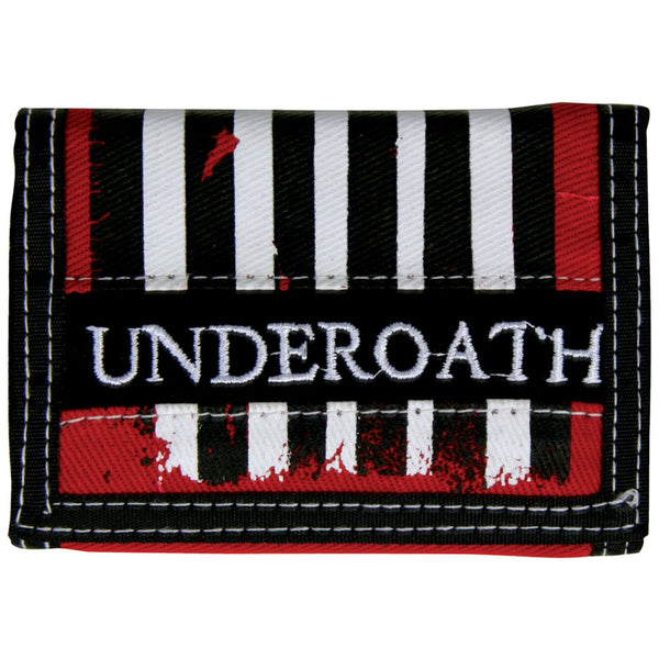 Underoath - Stripes Velcro Wallet
