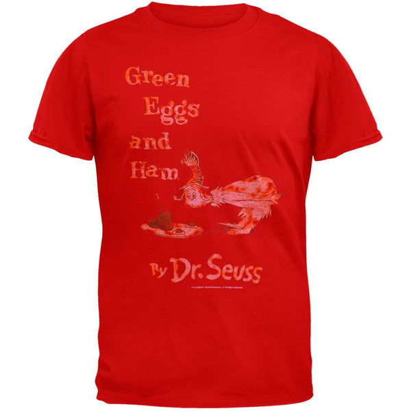 Dr. Seuss - Green Eggs Cover Distressed T-Shirt