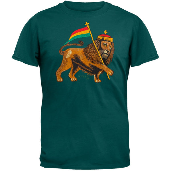 Rasta Lion - Green T-Shirt