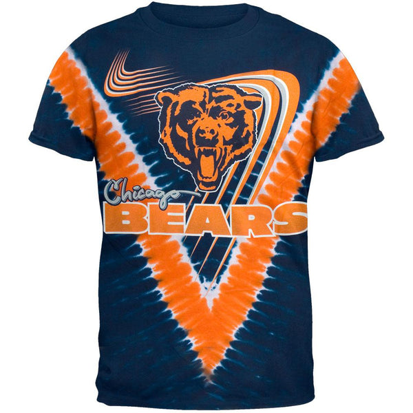 Chicago Bears - Logo V-Dye Tie Dye T-Shirt
