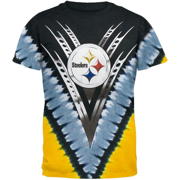 Pittsburgh Steelers - Logo V-Dye Tie Dye T-Shirt