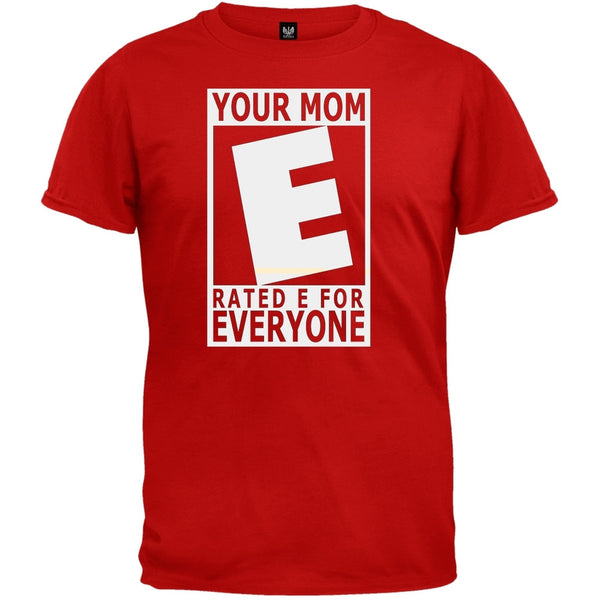 Your Mom Rated E Red T-Shirt
