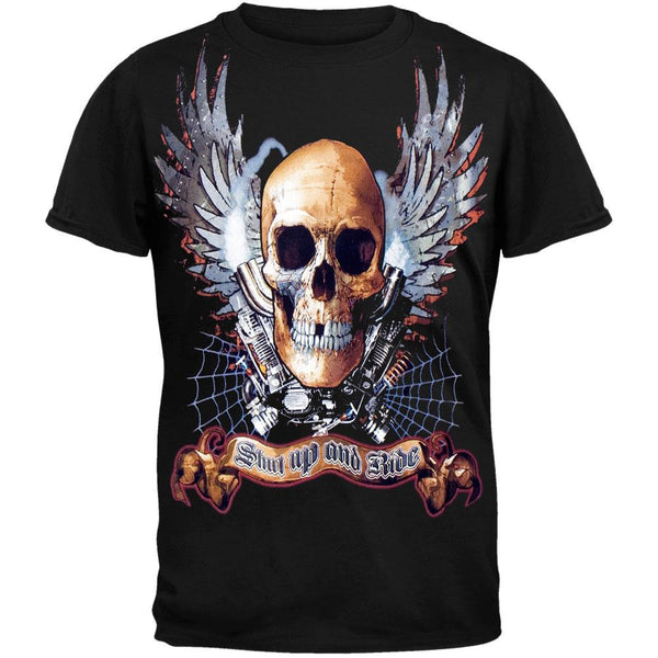 Winged Skull Shut Up and Ride T-Shirt