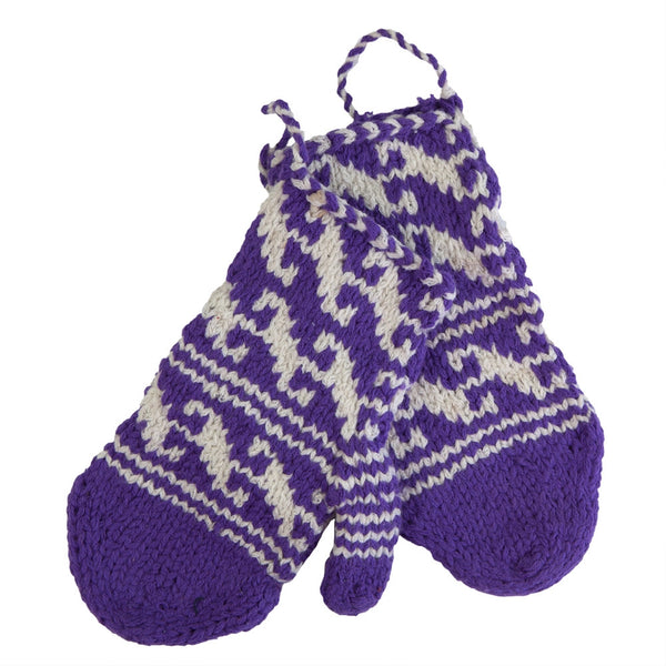 Knitted Mittens Pair