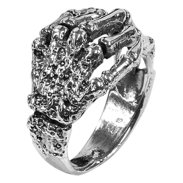 Wrap Around Skeleton Hands Ring